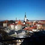 pohled na historický Tallinn