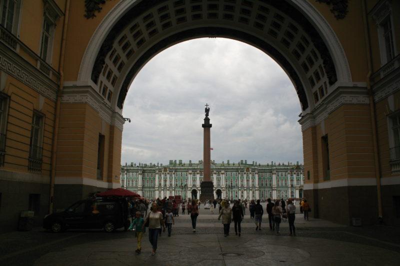 Zimní palác je dnes sídlem Ermitáže